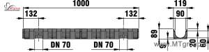 گاترپیش ساخته هدایت آب 44300